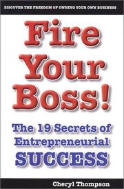 Cover of: Fire Your Boss | Cheryl Thompson