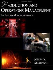 Cover of: Production and operations management