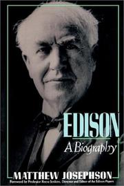 Cover of: Edison