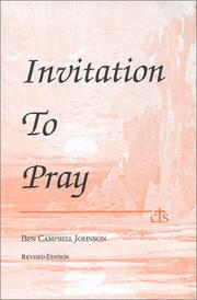 Cover of: Invitation to Pray
