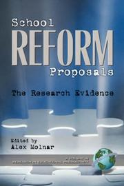 Cover of: School Reform Proposals