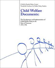 Cover of: Child Welfare Documents 1976-1996 | Monica Causey