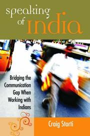 Cover of: Speaking of India