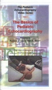 Cover of: The Basics of Pediatric Echocardiology | Patrick D. Coon
