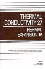 Cover of: Thermal Conductivity 27 / Thermal Expansion 15 |