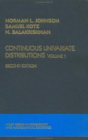 Cover of: Continuous univariate distributions
