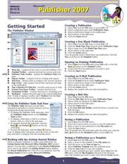 Cover of: Microsoft Publisher 2007 Quick Source Guide | Quick Source