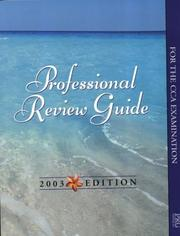 Cover of: Professional Review Guide for the Cca Examination 2003 | Patricia J. Schnering