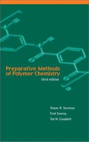 Cover of: Preparative methods of polymer chemistry