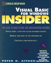 Cover of: Visual Basic for Windows insider