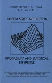 Cover of: Hilbert space methods in probability and statistical inference