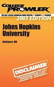 Cover of: College Prowler Johns Hopkins University | Marissa Biondi