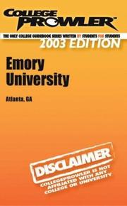 College Prowler Emory University (College prowler Guidebooks)