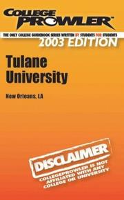 Cover of: College Prowler Tulane University