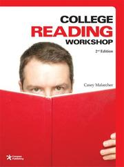 Cover of: College Reading Workshop