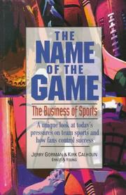 Cover of: The name of the game | Jerry Gorman