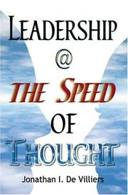 Cover of: Leadership @ The Speed Of Thought | Jonathan I. De Villiers