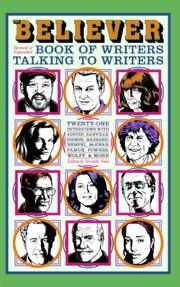 Cover of: The Believer Book of Writers Talking to Writers | Vendela Vida