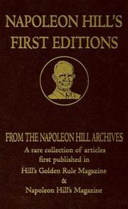 Cover of: Napoleon Hill's First Editions