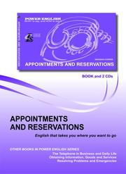 Cover of: Appointments and Reservations (Power English Series for Russian Speakers)