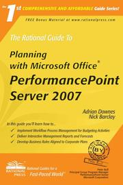 The Rational Guide To Planning with Microsoft Office PerformancePoint Server 2007 (Rational Guides) by Adrian Downes, Nick Barclay