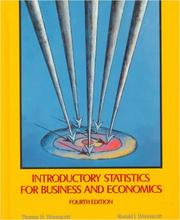 Cover of: Introductory statistics for business and economics