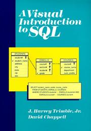 Cover of: A visual introduction to SQL | J. Harvey Trimble