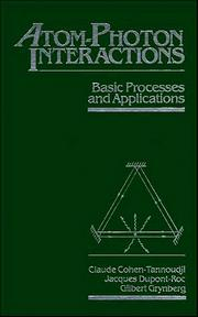 Cover of: Atom-photon interactions