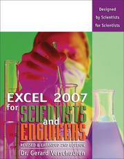 Cover of: Excel 2007 for Scientists and Engineers (Excel for Professionals series) | Dr. Gerard Verschuuren
