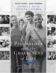 Cover of: Study guide [to accompany] Psychology and the challenges of life