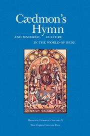 Cover of: Cædmon's hymn and material culture in the world of Bede