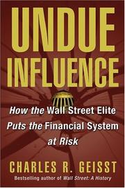 Cover of: Undue Influence