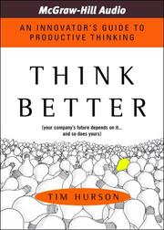 Cover of: Think Better | Tim Hurson