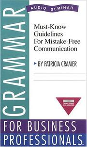 Cover of: Grammar for Business Professionals