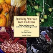 Cover of: Renewing America's food traditions