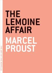 Cover of: Lemoine Affair (The Art of the Novella) | Marcel Proust