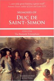 Cover of: Memoirs of Duc de Saint-Simon, 1710-1715