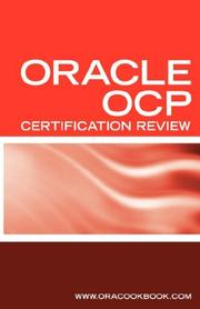 Cover of: Ultimate Unofficial Oracle OCP Certification Review Guide | ORACOOKBOOK