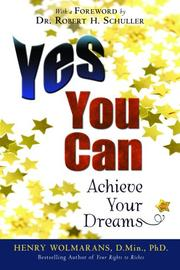 Cover of: Yes You Can | Dr. Henry Wolmarans
