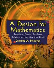 Cover of: A passion for mathematics