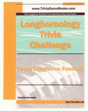 Cover of: Longhornology Trivia Challenge |