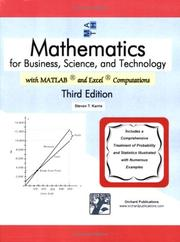 Cover of: Mathematics for Business, Science, and Technology | Steven T. Karris