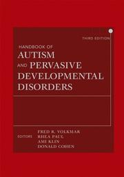 Cover of: Handbook of Autism and Pervasive Developmental Disorders, Two Volume Set |