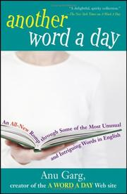 Cover of: Another Word A Day | Anu Garg