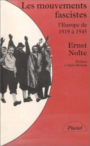 Cover of: Les Mouvements fascistes  by Ernst Nolte, Alain Renaut