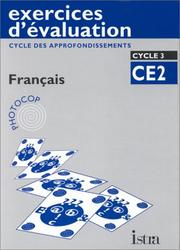 Cover of: Exercices d'évaluation - Mathématiques CE2 cycle 3 by Arnaud