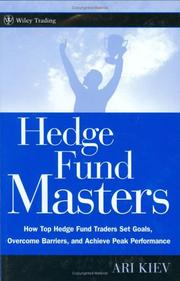 Hedge Fund Masters by Ari Kiev