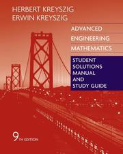 Cover of: Advanced Engineering Mathematics, Student Solutions Manual and Study Guide | Erwin Kreyszig