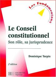 Cover of: Le Conseil constitutionnel