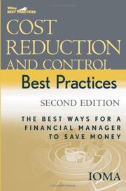 Cover of: Cost Reduction and Control Best Practices | Institute of Management and Administration (IOMA)